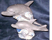 Dolphin Sculpture by John France