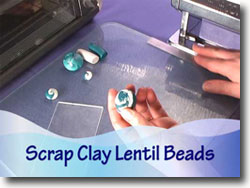 Scrap Clay Lentil Beads
