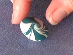 Scrap Polymer Clay Lentil Bead