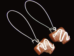 Chocolate Polymer Clay Earrings