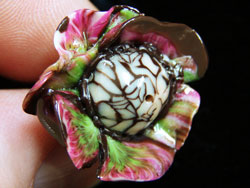 Cane Slice Flower Bead