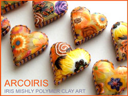 Iris Mishly Heart Beads