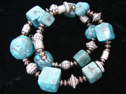 Faux Turquoise Jewelry Bracelet