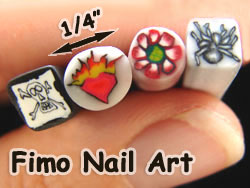 Tiny Fimo Nail Art Polymer Clay Canes