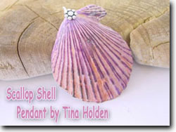 Scallop Shell Pendant Jewelry by Tina Holden