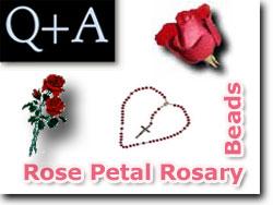 Rose Petal Rosary Beads