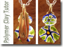 Morning Glory Silverware Pendant