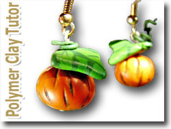 Polymer Clay Pumpkin Earrings