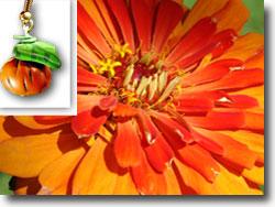 Zinnia Orange Pumpkin Earrings
