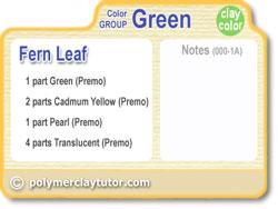 Polymer Clay Tutor Color Recipe Card