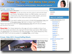 Polymer Clay Tutor Library Opens