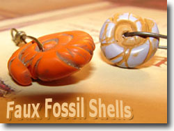 Faux Fossil Shell Beads