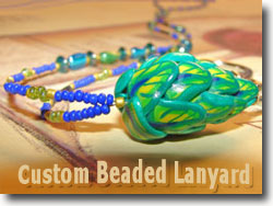 Custom Beaded Lanyard