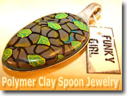 Polymer Clay Spoon Jewelry