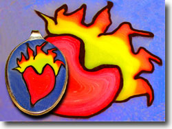 Flaming Heart Tattoo Jewelry
