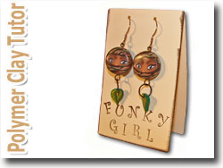 Polymer Clay Ninja Face Cane Earrings