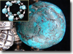 Faux Turquoise Polymer Clay Beads