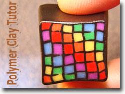 Rainbow Polymer Cane