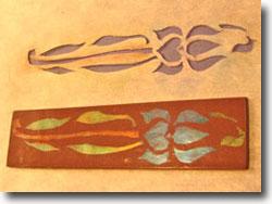 Stencil on Polymer Clay