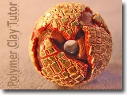 Deep Crackle Globe Bead