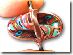 Polymer Clay Mobius Bead