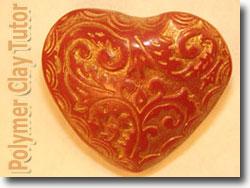 Molded Heart Bead