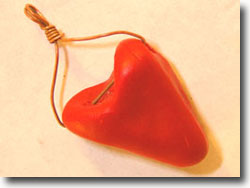 Tiny Red Heart Pendant