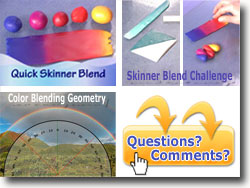 Teardrop Method for Polymer Clay Color Blends