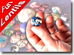 Lentil Swirly Beads