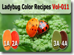 Ladybug Polymer Clay Color Palette