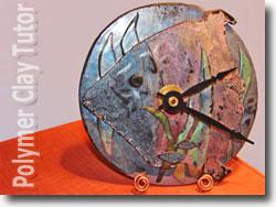 Faux Raku Fish Clock
