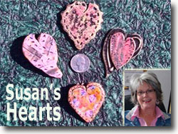 Susan's Polymer Clay Hearts