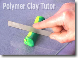 Cutting Polymer Clay Canes Into Thirds