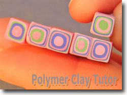 Reducing Polymer Clay Canes