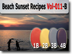 Beach Sunset Polymer Clay Color Palette