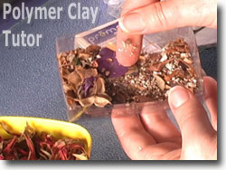 Polymer Clay Dried Flower Petal Inclusions