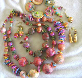 Polymer Clay Beads by Heather King