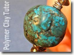 Faux Turquoise Bracelet Bead