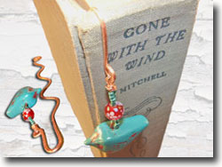 Hammered Copper Wire Bookmark