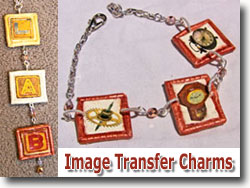Polymer Clay Image Transfer Charms