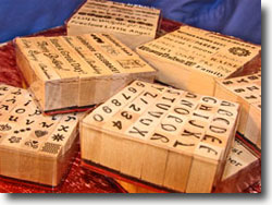Rubber Stamps for Polymer Clay