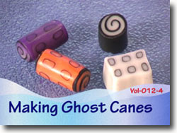 Making Polymer Clay Ghost Canes