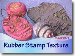 Rubber Stamped Polymer Clay Beads and Pendants