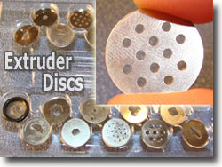 Polymer Clay Extruder Discs