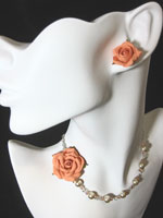 Peach Rose Jewelry by Tania Kathuria