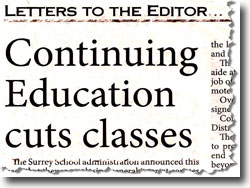 Continuing Education Cuts