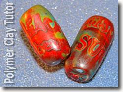 Polymer Clay Graffiti Beads
