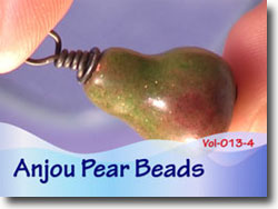 Polymer Clay Anjou Pear Bead