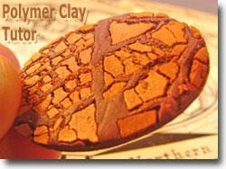 Faux Raku Polymer Clay