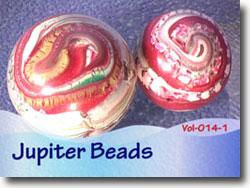 Polymer Clay Jupiter Beads
